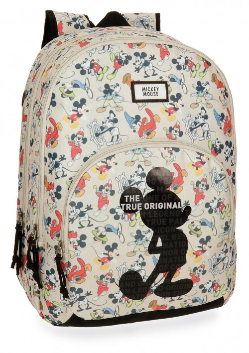 3322461 mochila doble c. 44 cm mickey true original