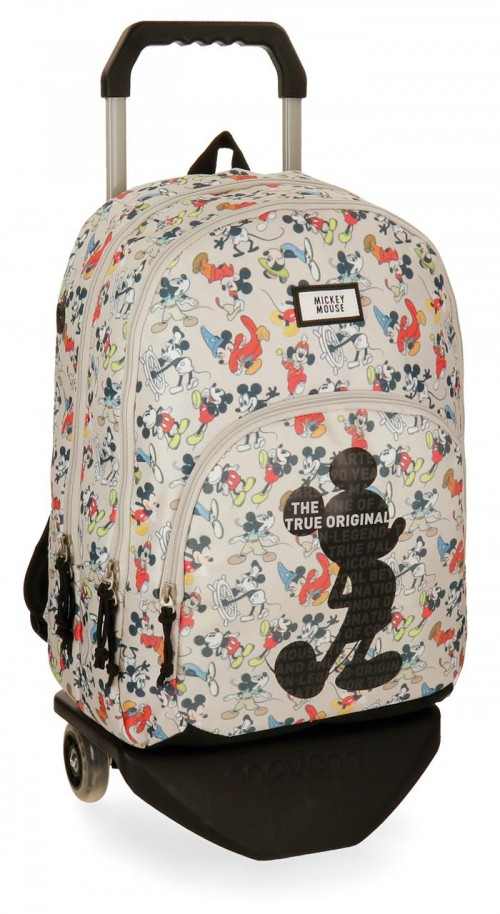 33224N1 mochila doble 44cm carro mickey true original