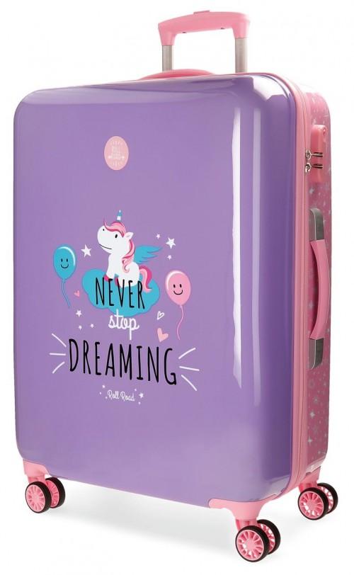 4421862 maleta mediana unicorn lila