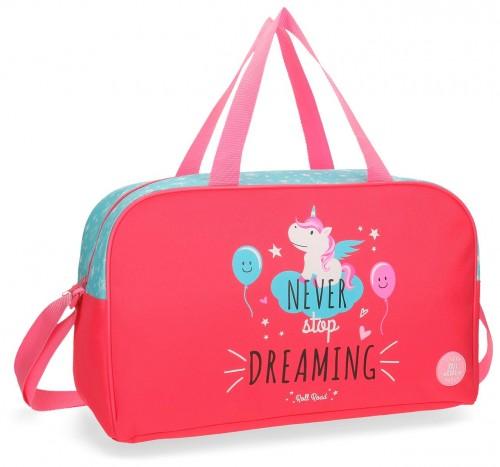 4423361 bolsa de viaje 45 cm unicorn coral