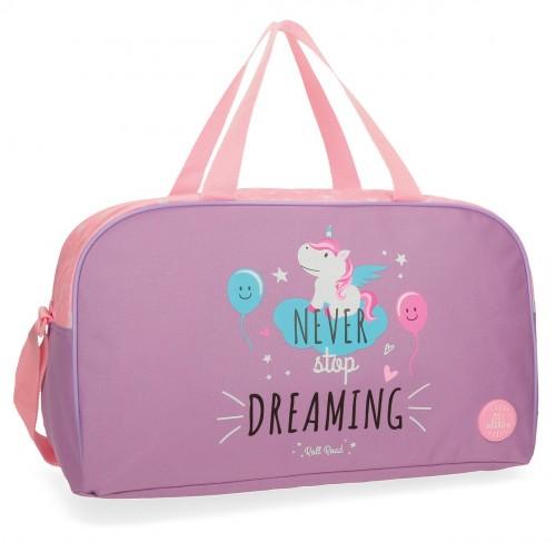 4423362 bolsa de viaje 45 cm unicorn lila