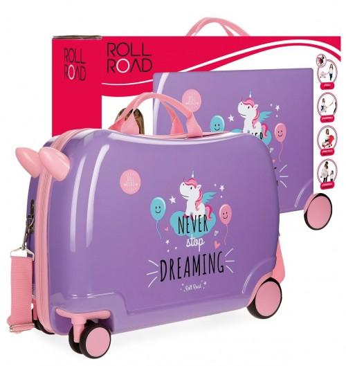 44298C2 maleta infantil 4 ruedas unicorn lila