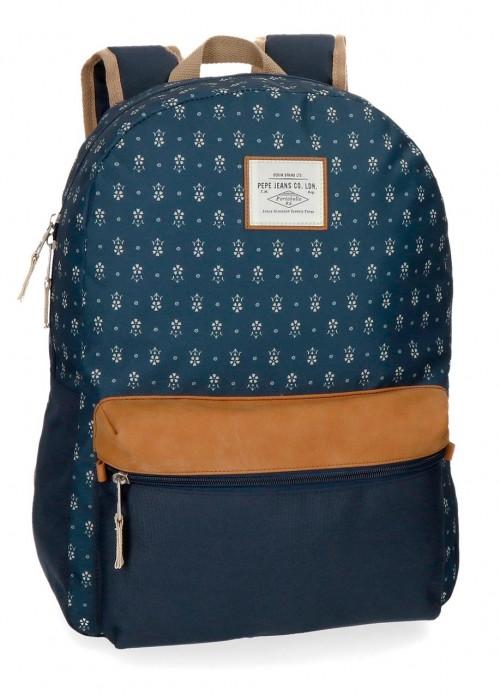 6232361 mochila 42 cm pepe jeans carola azul