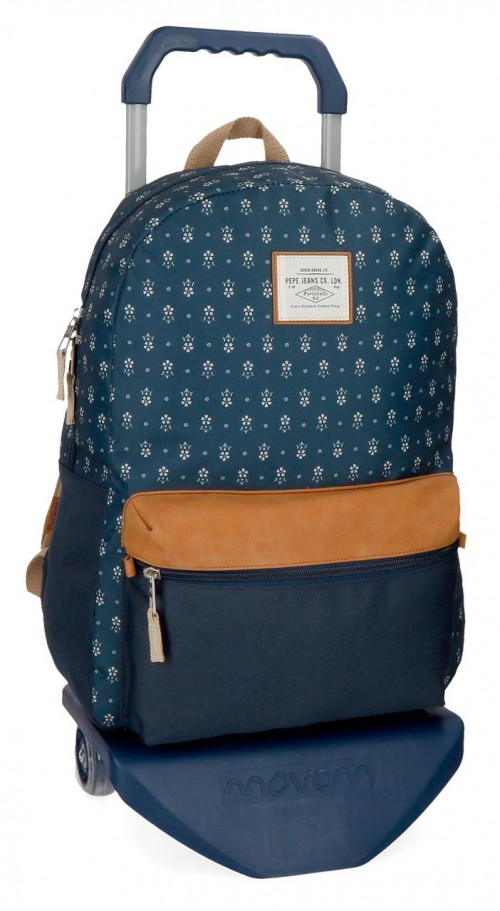 62323N1 mochila 42 cm con carro pepe jeans carola azul