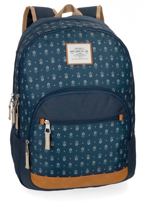 6232461 mochila portaordenador pepe jeans carola azul
