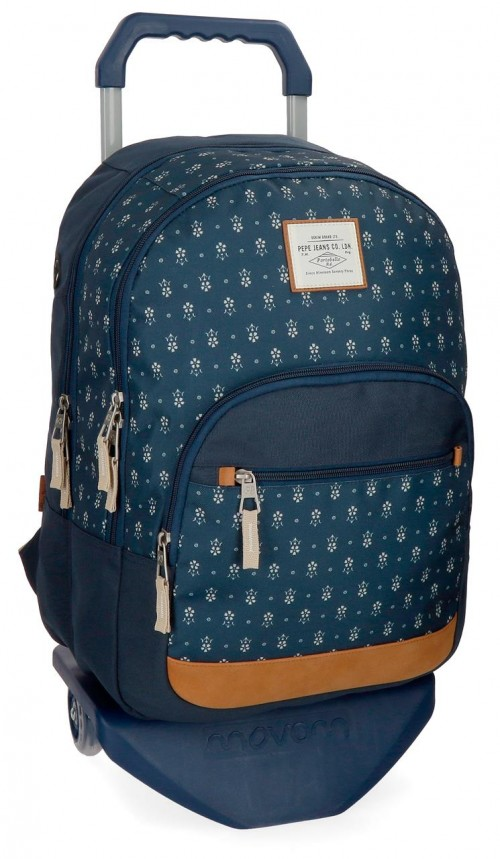 62324N1 mochila portaordenador con carro pepe jeans carola azul