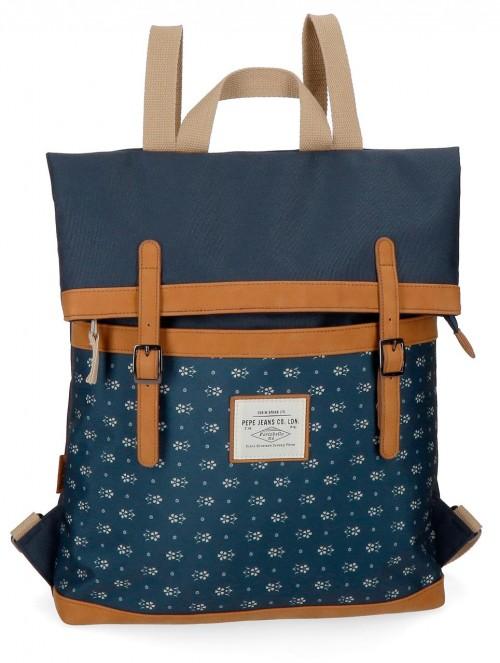 6232561 mochila portaordenador pepe jeans carola azul