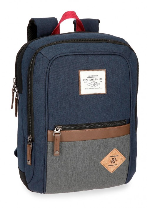 6242261 mochila portaordenador adaptable pepe jeans roy azul
