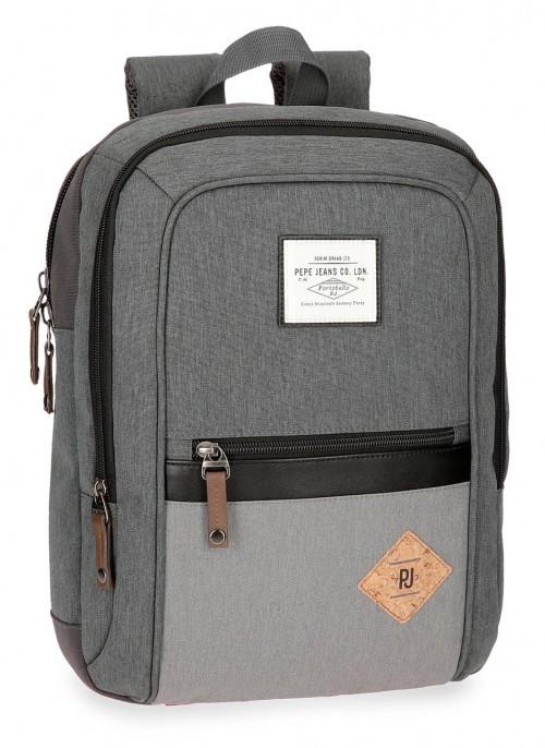 6242262 mochila portaordenador pepe jeans roy  gris