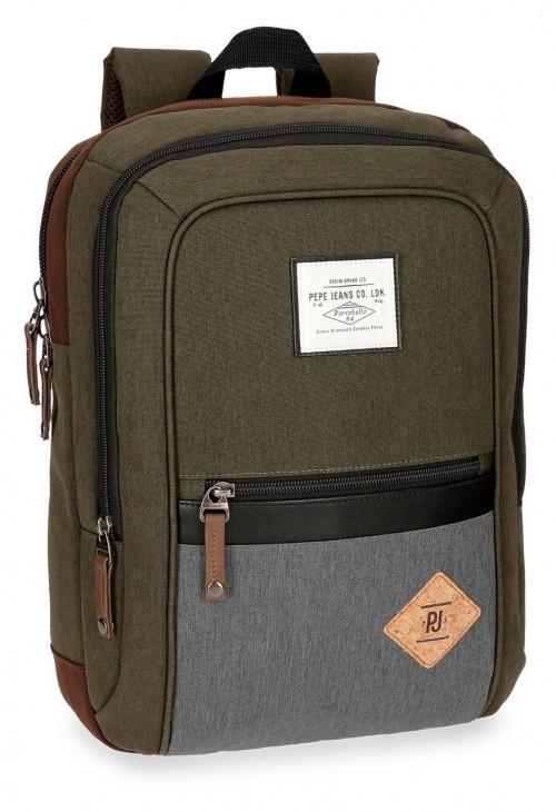 6242263 mochila portaordenador pepe jeans roy verde