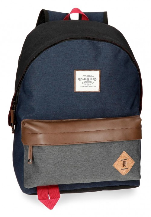 6242361 mochila  adaptable  pepe jeans roy azul