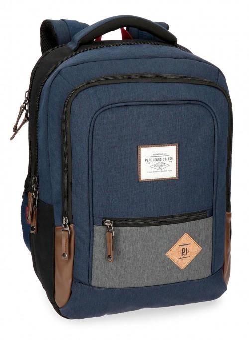 6242761 mochila portaordenador pepe jeans roy azul
