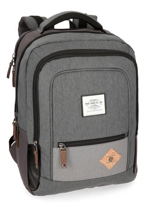 6242762 mochila portaordenador pepe jeans roy gris