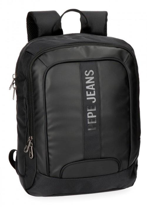 "7352261 mochila portaordenador 13.3"" pepe jeans bromley negro"