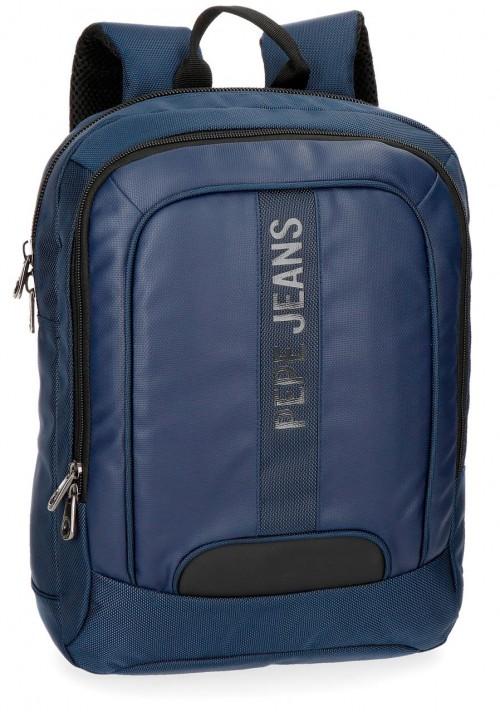 "7352262 mochila portaordenador 13.3"" pepe jeans bromley azul"