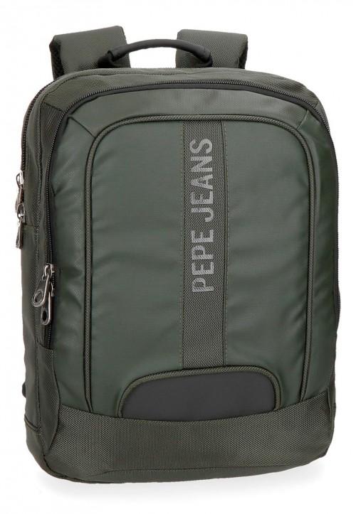 "7352263 mochila portaordenador 13.3"" pepe jeans bromley verde"
