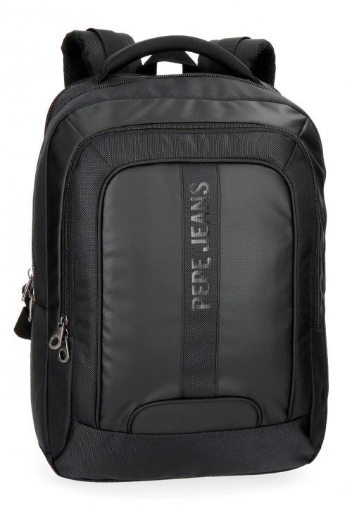 7352761 mochila portaordenador doble c. pepe jeans bromley negro
