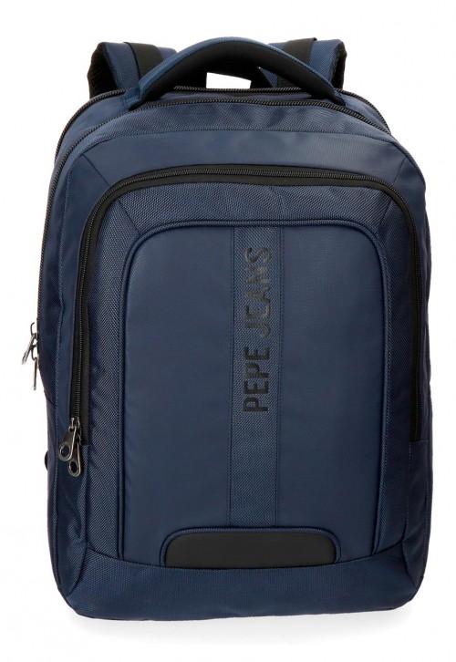 7352762 mochila  doble c. pepe jeans bromley azul
