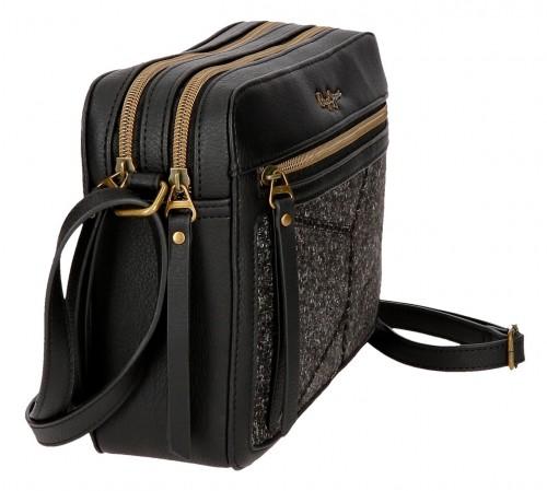 7755361 bolso bandolera 2 comp. pepe jeans claire negro