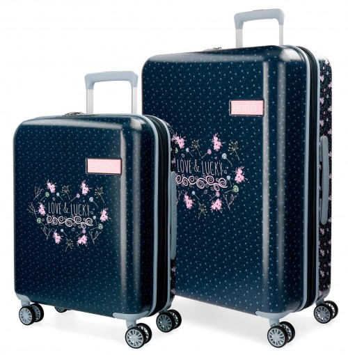 9118961 juego maletas cabina y mediana enso love & lucky