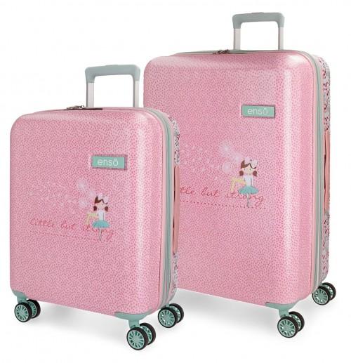 9137261 juego maletas 55-70 cm enso secret garden