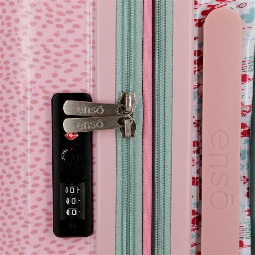 9138661 maleta 55 cm enso secret garden cerradura tsa