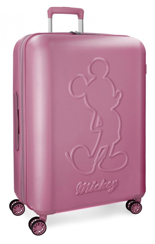 3418863 maleta mediana mickey premium rosa