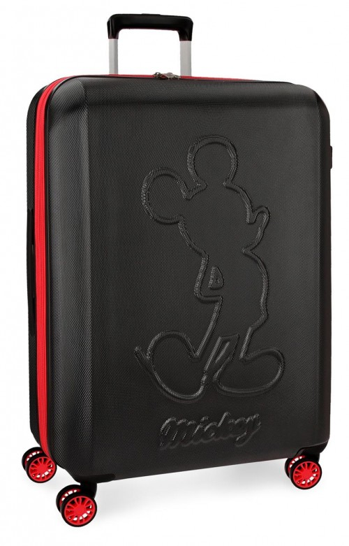 3428861 maleta mediana mickey colored negro