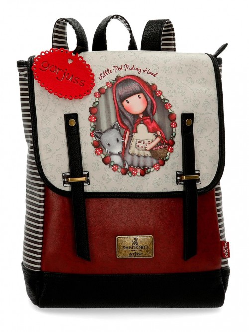 3492561 mochila 38 cm portaordenador gorjuss little red reading hood