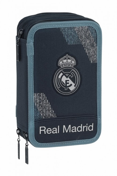 411834057 plumier triple 41 piezas real madrid dark grey
