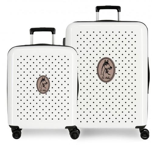 5099523 juego maletas cabina y mediana el potro galán - teke