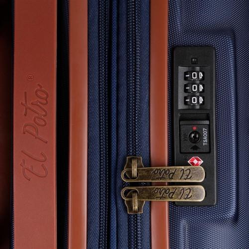 5738661-51maleta cabina el potro ocuri color azul cerradura tsa