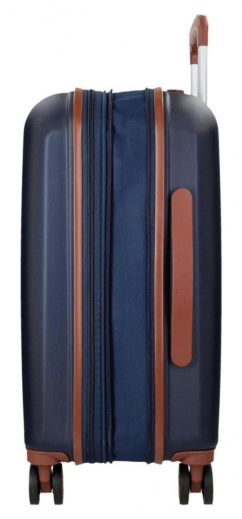 5738661-6 maleta cabina el potro ocuri color azul  expandible