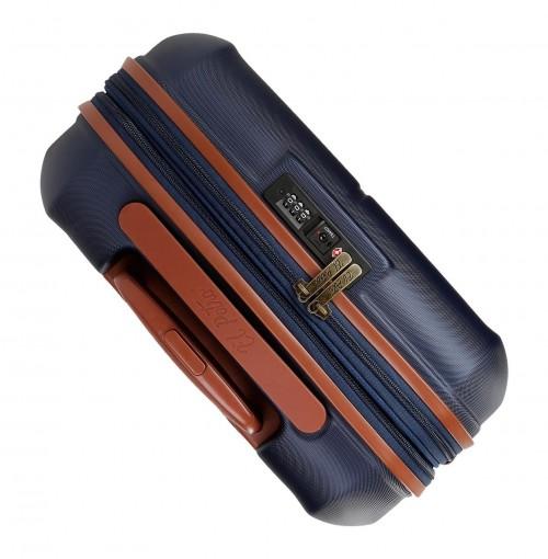 5738661-7  maleta cabina el potro ocuri color azul vista superior