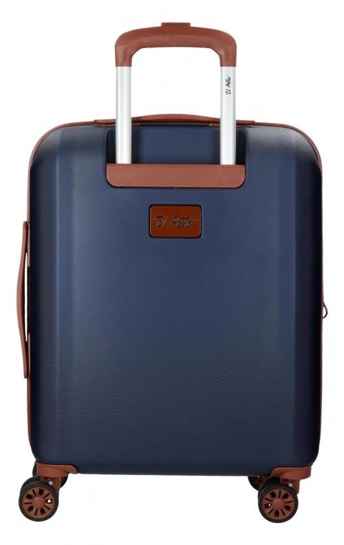 57386P1-3  maleta cabina el potro ocuri color azul  trasera