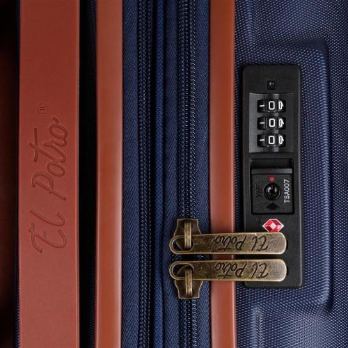 5738861 maleta mediana el potro ocuri  azul  cerradura tsa