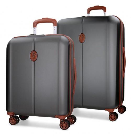 5738962 juego maleta cabina + mediana el potro ocuri antracita