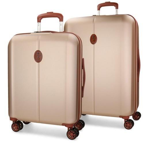 5738963 juego maleta cabina + mediana el potro ocuri champagne