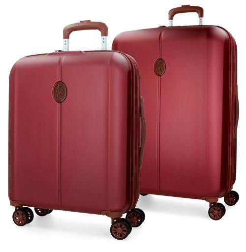 5738964  juego maleta cabina + mediana el potro ocuri  rojo