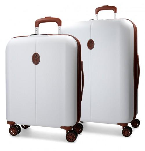 5738965 juego maleta cabina + mediana el potro ocuri blanco