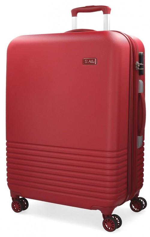 5749263 maleta mediana 4 ruedas el potro ride rojo