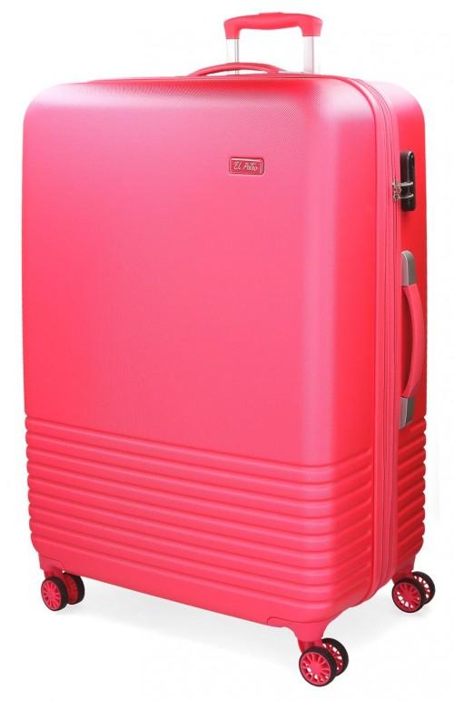 5749264 maleta mediana 4 ruedas el potro ride rojo