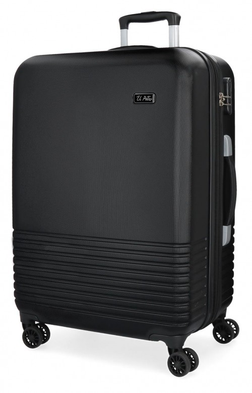 5749361 maleta grande 4 ruedas el potro ride negro