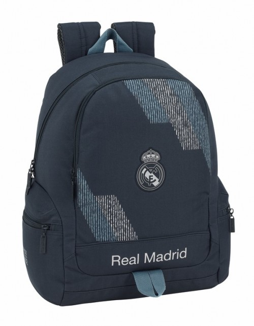 611834662 Mochila Real Madrid Grey Bolsillos Laterales