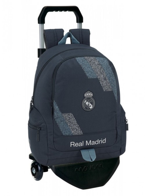 611834662C mochila real madrid grey bolsos laterales con carro premium