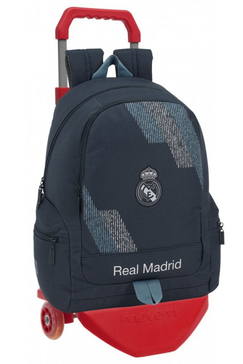 611834662CR mochila con carro premium  real madrid dark grey