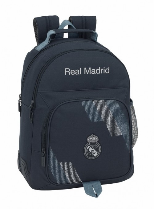 611834773 mochila doble adaptable reforzada real madrid dark grey