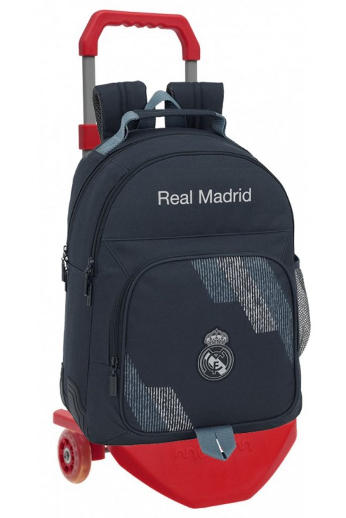 611834773CR mochila carro premium reforzada  real madrid dark grey