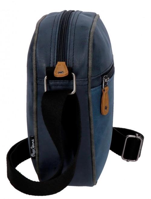 6355662 bandolera 21 cm pepe jeans max azul lateral