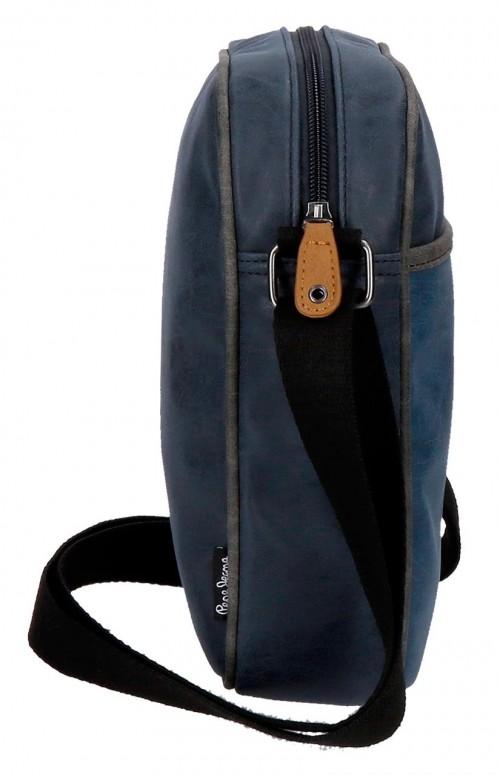 6355862 bandolera 25 cm pepe jeans max azul lateral